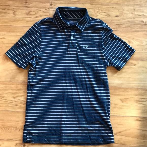 830ea3baf1 Vineyard Vines Boys Navy Blue Striped Cotton Polo.  M_5b6782d45bbb8025d1ab6c9d